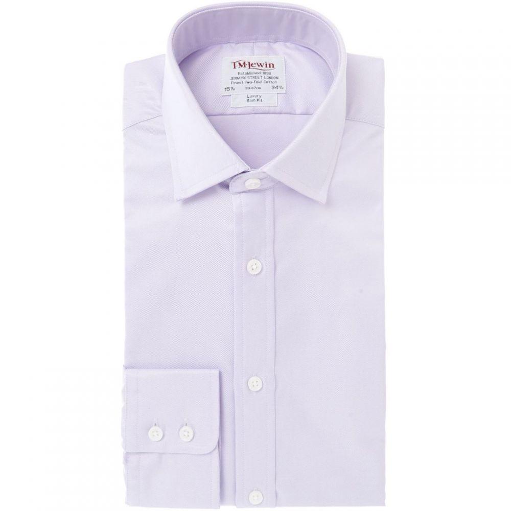 ティーエム レウィン TM Lewin メンズ トップス【Luxury Twill Slim Fit Shirt】Lilac