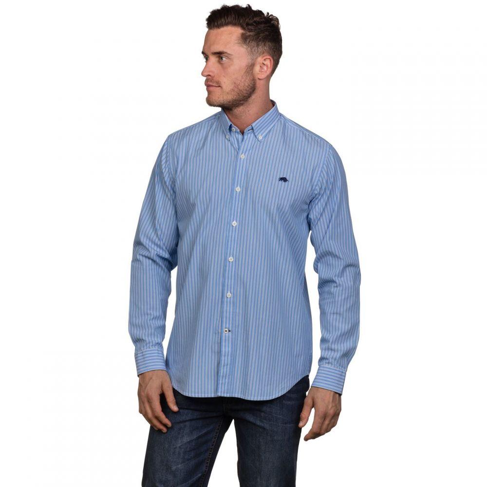 ライジング ブル Raging Bull メンズ トップス【Big and Tall Stripe Poplin Shirt】Sky Blue