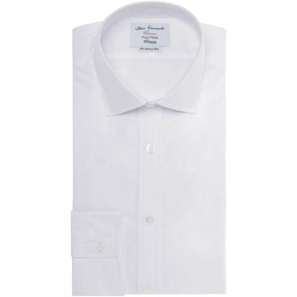 ティーエム レウィン TM Lewin メンズ トップス【White Poplin Fitted Button Cuff Shirt】White
