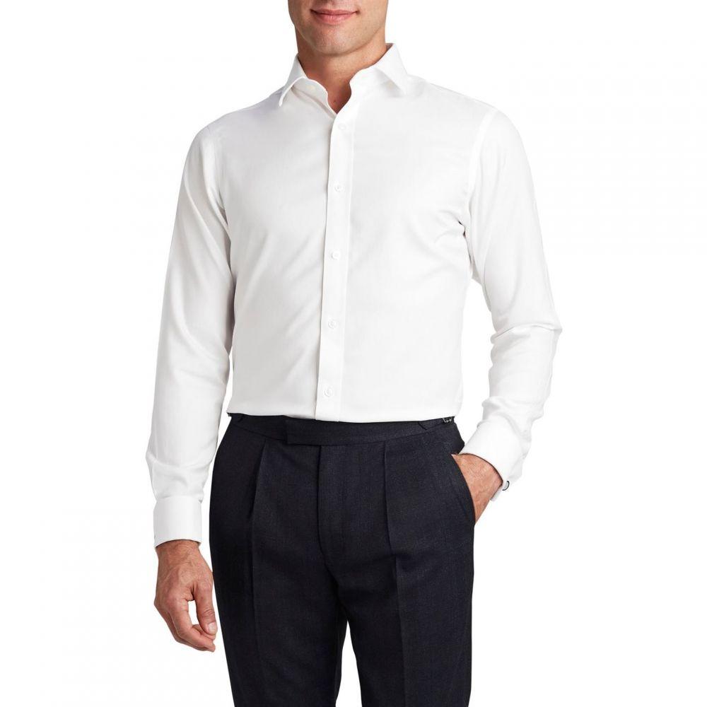 ティーエム レウィン TM Lewin メンズ トップス【Non Iron White Twill Double Cuff Fitted Shirt】White