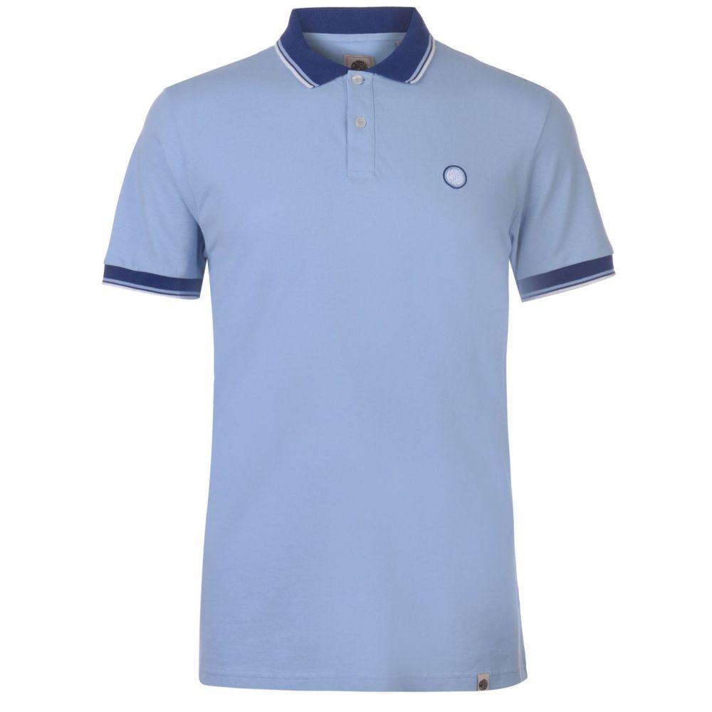 プリティー グリーン Pretty Green メンズ トップス ポロシャツ【Tipped Pique Polo Shirt】Light Blue