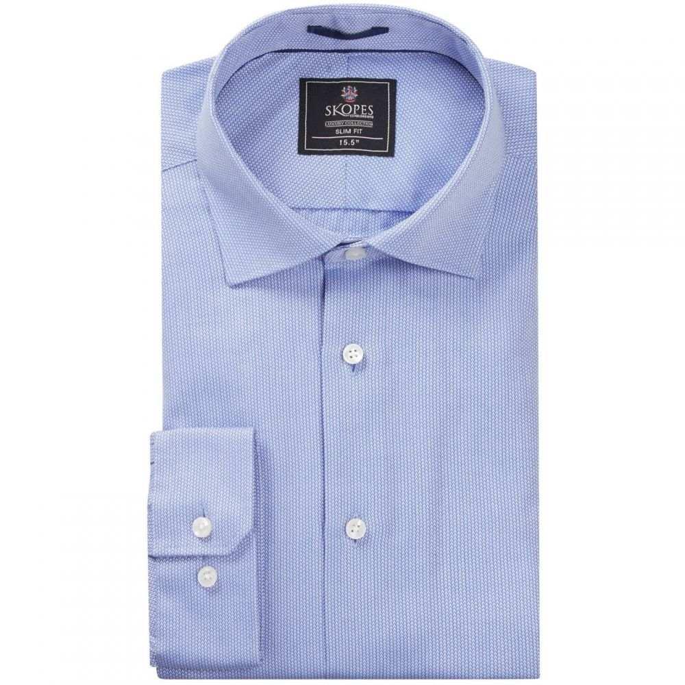 スコープス Skopes メンズ トップス【Luxury Collection Formal Shirts】Blue