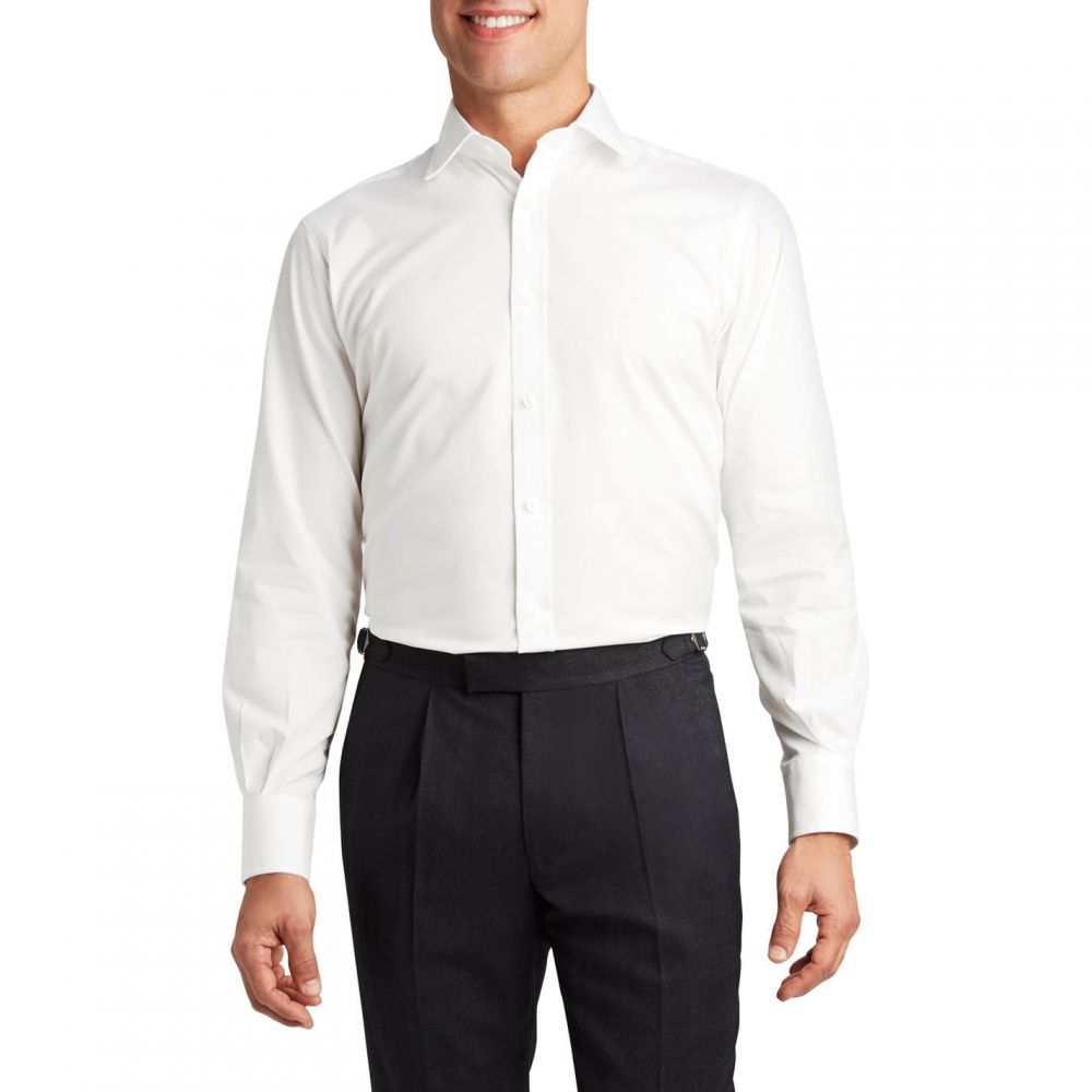 ティーエム レウィン TM Lewin メンズ トップス【Poplin slim fit shirt】White