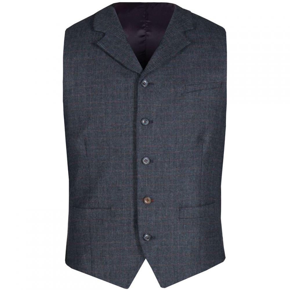 ギブソン Gibson メンズ トップス ベスト・ジレ【Navy and Red Check Vest】Navy