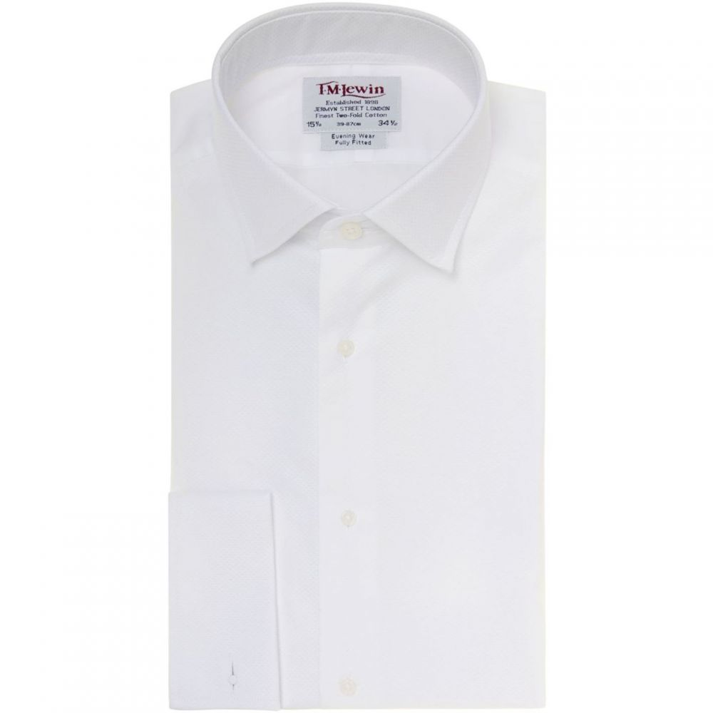 ティーエム レウィン TM Lewin メンズ トップス【Marcella Plain Fully Fitted Dress Shirt】White