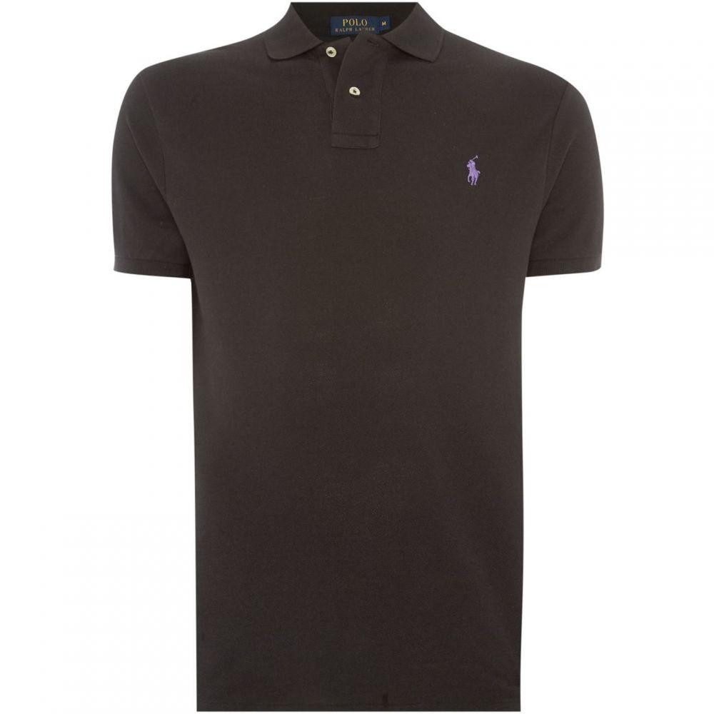 ラルフ ローレン Ralph Lauren メンズ トップス ポロシャツ【Short Sleeve Slim Fit Polo Shirt】Black