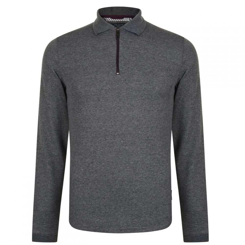 テッドベーカー Ted Baker メンズ トップス ポロシャツ【Zip Polo Shirt】Charcoal