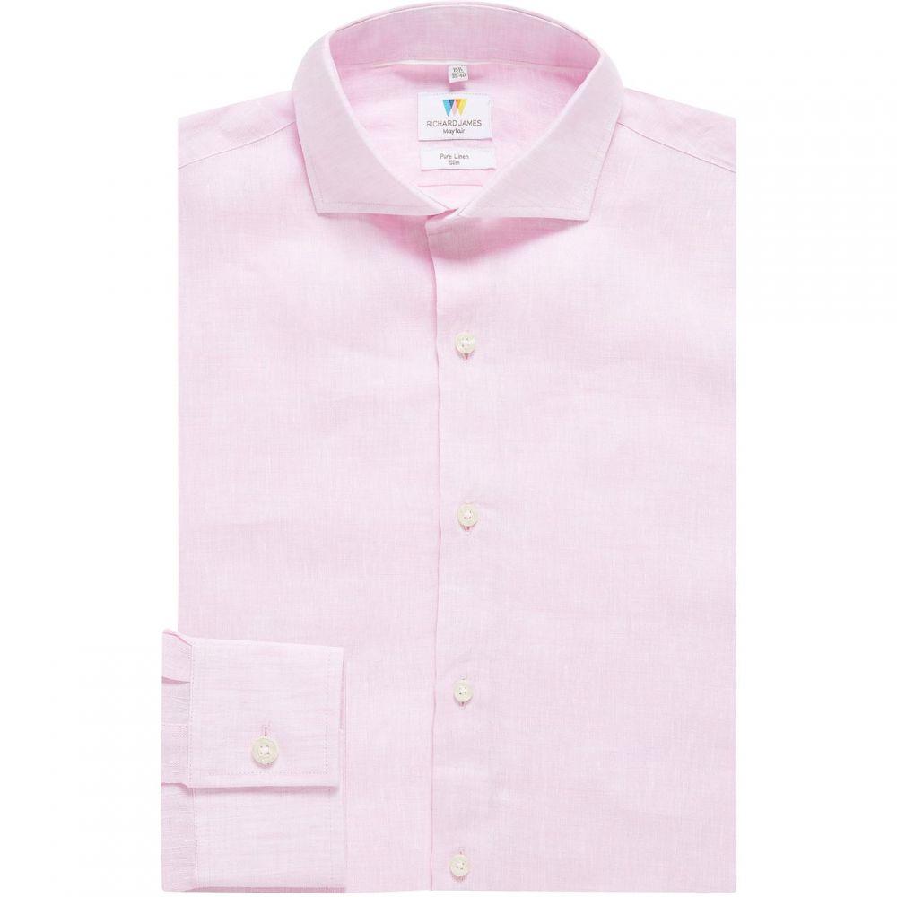 メンズ Shirt】Pink Richard リチャード ジェームス James Mayfair トップス【Linen