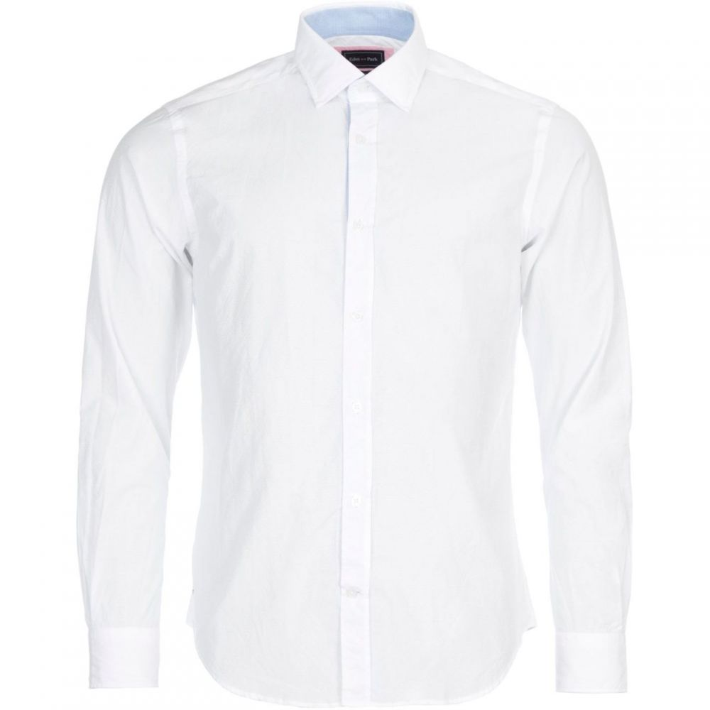 エデン パーク Eden Park メンズ トップス シャツ【Slim Fit Print Cotton Shirt】White