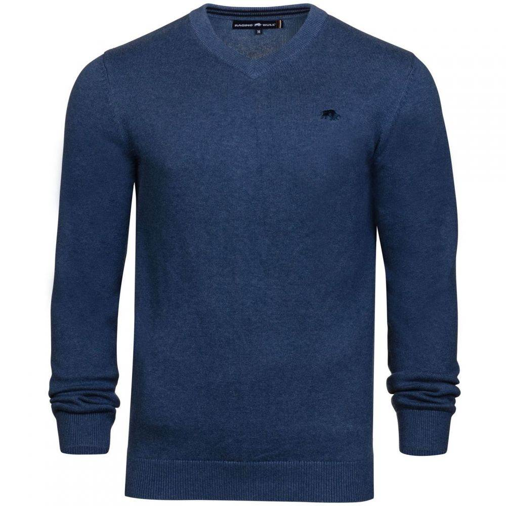 ライジング ブル Raging Bull メンズ トップス【Big And Tall V Neck Cotton Cashmere Jumper】Navy