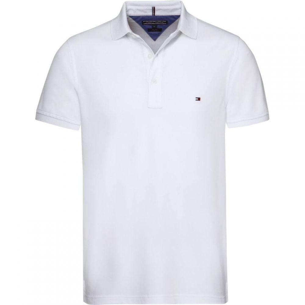 トミー ヒルフィガー Tommy Hilfiger メンズ トップス ポロシャツ【Core Tommy Regular Polo Top】White