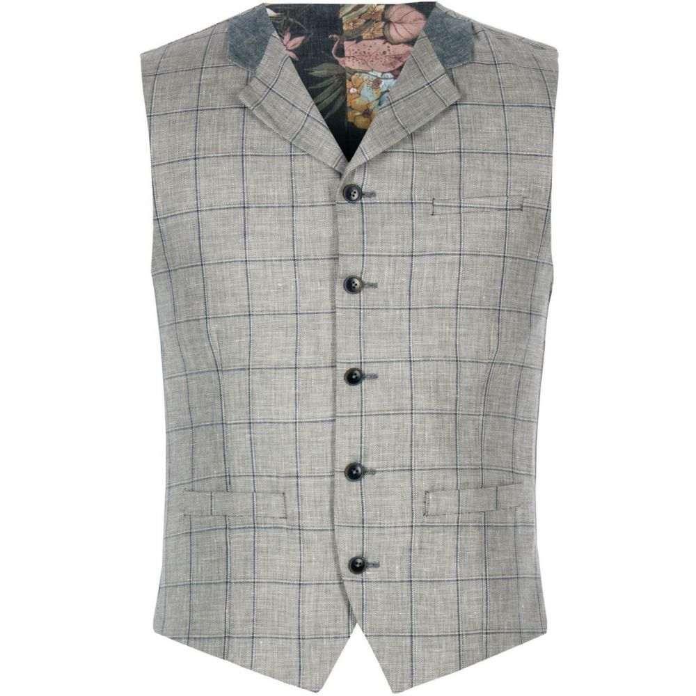 ギブソン Gibson メンズ トップス ベスト・ジレ【Grey Pick And Pick Check Waistcoat】Grey