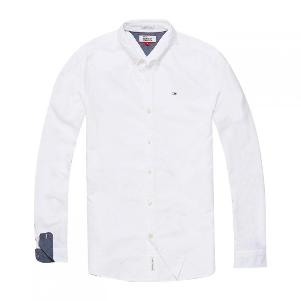 トミー ヒルフィガー Tommy Hilfiger メンズ トップス【Basic Solid Shirt】White