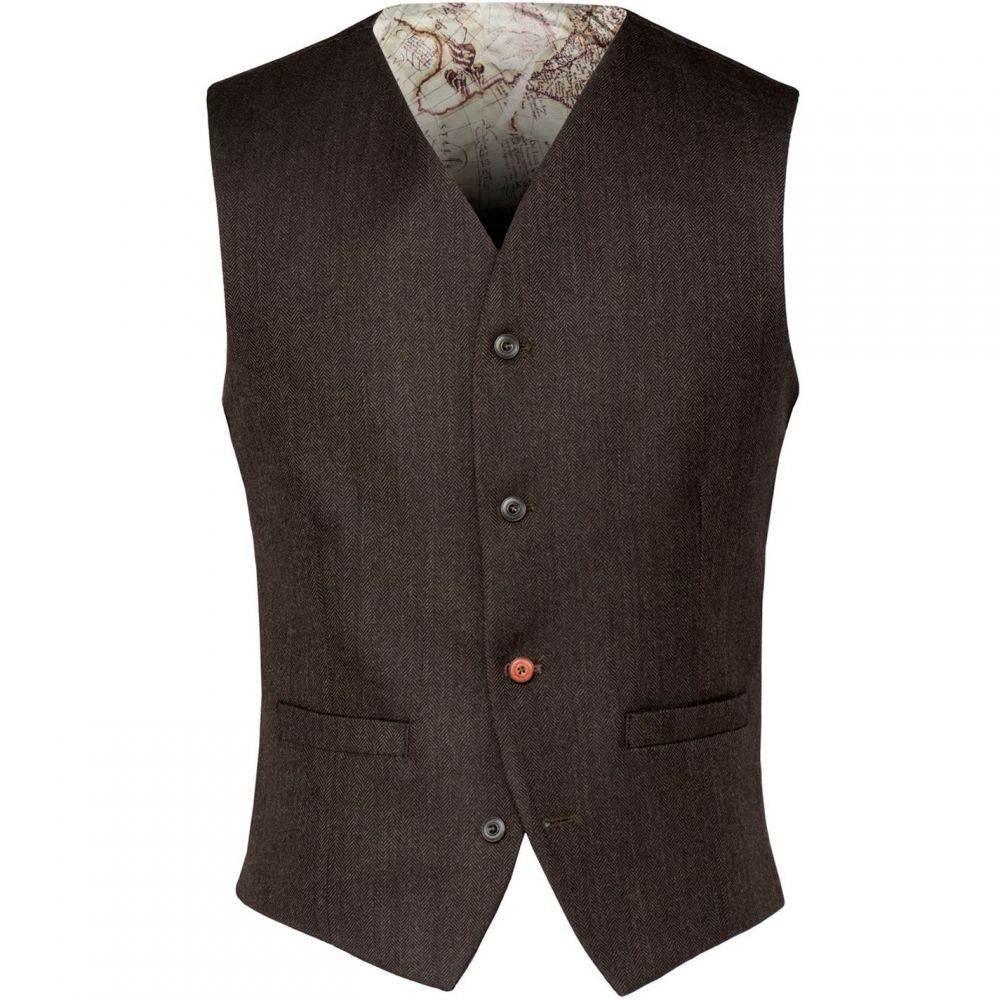 ギブソン Gibson メンズ トップス ベスト・ジレ【Green Brown Herringbone Waistcoat】Green