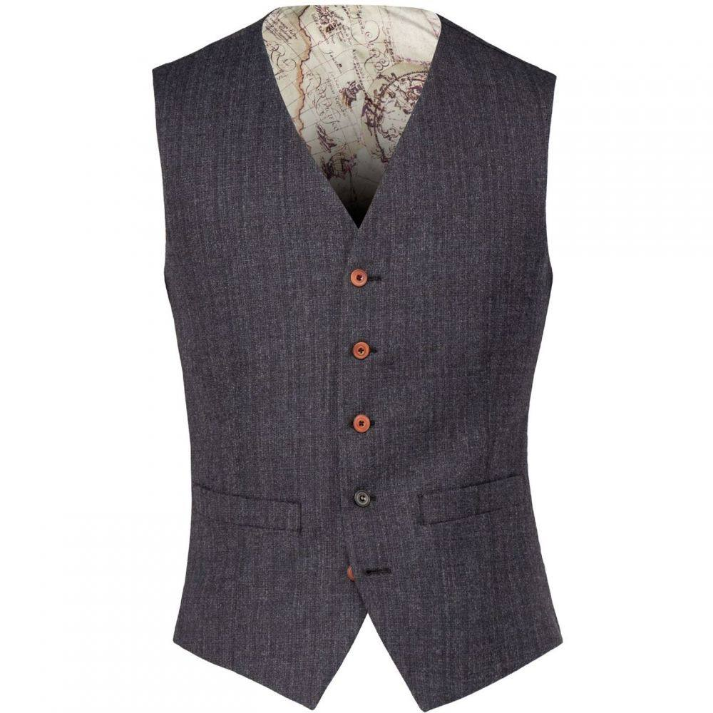 ギブソン Gibson メンズ トップス ベスト・ジレ【Charcoal Textured Waistcoat】Charcoal