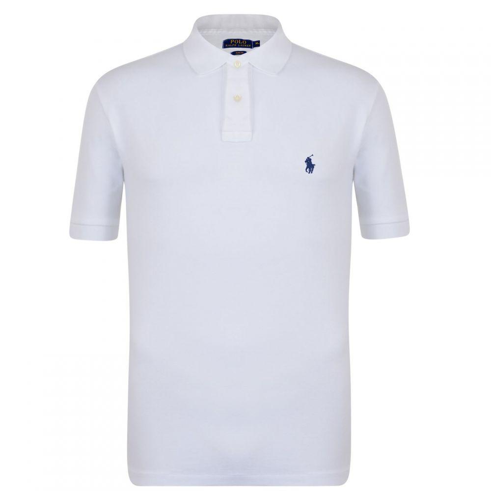 ラルフ ローレン POLO RALPH LAUREN メンズ トップス ポロシャツ【Slim Fit Polo Shirt】White