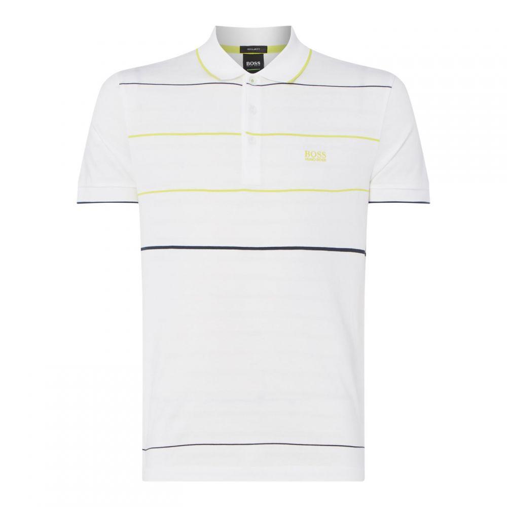 ヒューゴ ボス Boss Athleisure メンズ トップス ポロシャツ【Boss Stripe Polo Shirt】White