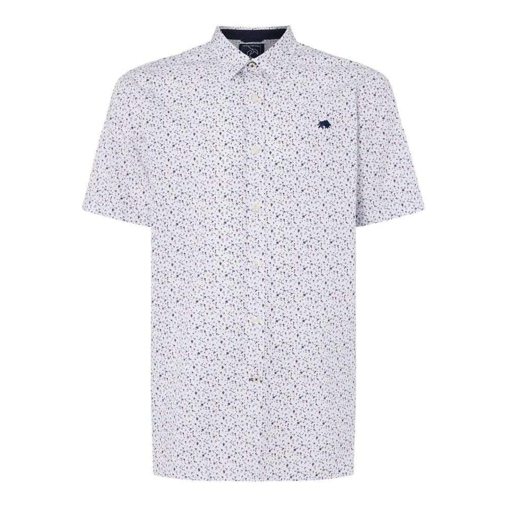ライジング ブル Raging Bull メンズ トップス 半袖シャツ【Short Sleeve Ditzy Floral Print Shirt】White
