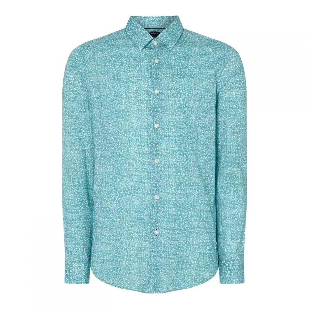 ヒューゴ ボス Boss Smart Casual メンズ トップス【HBB Lucas Flwr Shirt Sn93】Blue