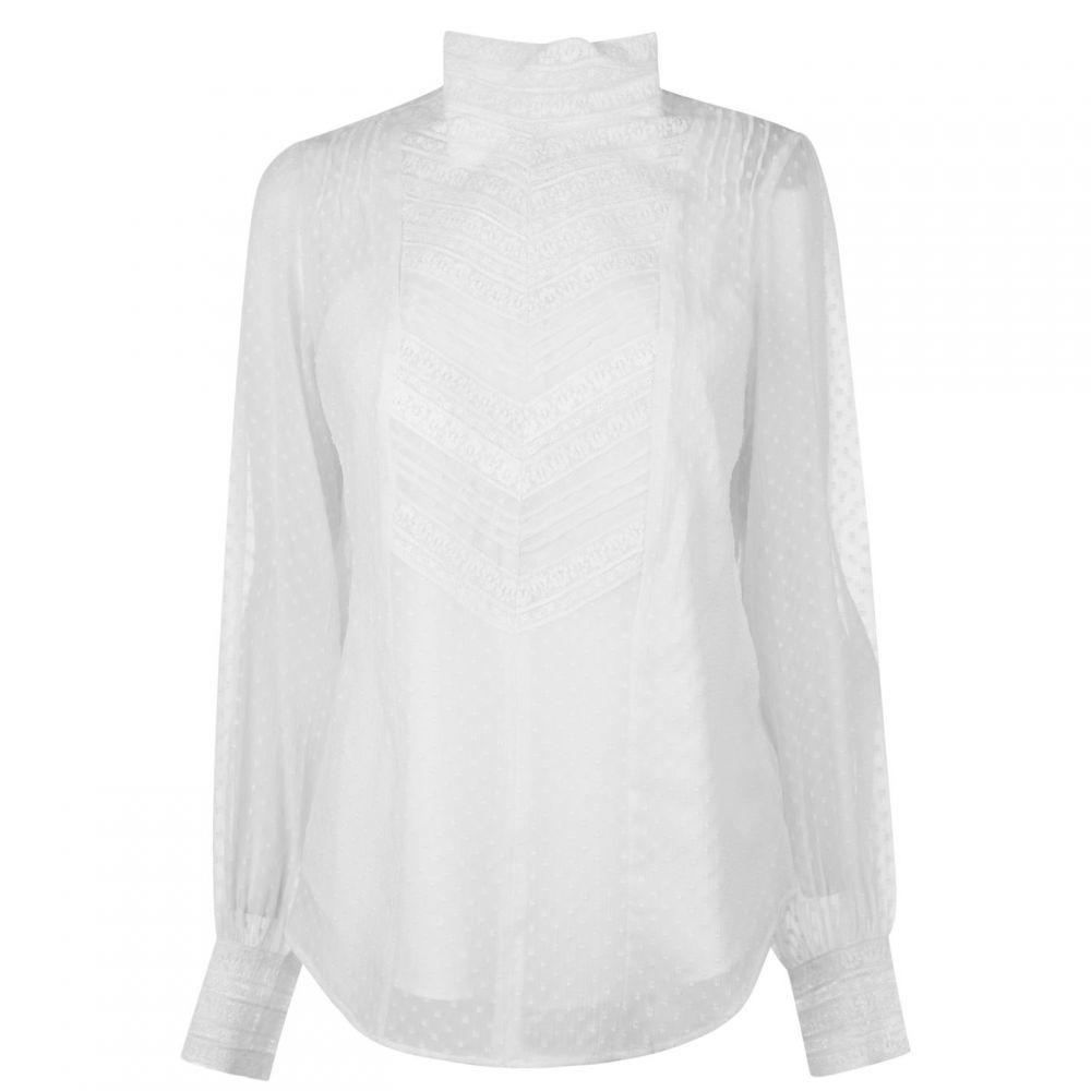 ラルフ ローレン Lauren by Ralph Lauren レディース トップス【Lauren Shakeita Long Sleeved Top】Silk White