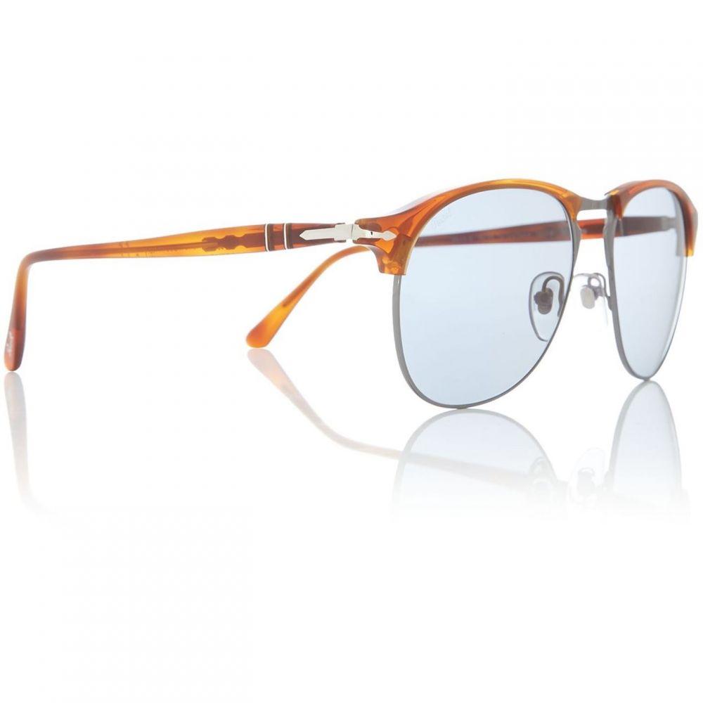 ペルソール Persol レディース メガネ・サングラス【Havana PO8649S Pilot Sunglasses】Havana