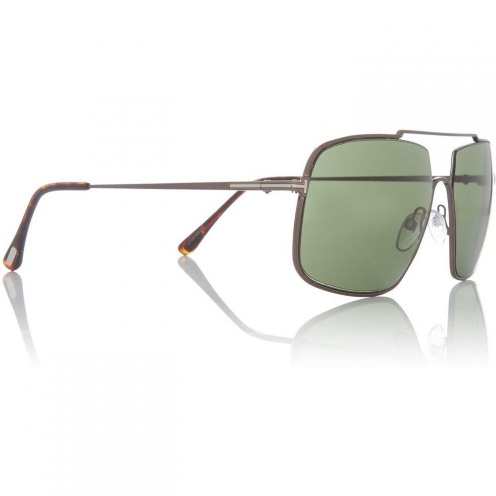 トム フォード Tom Ford レディース メガネ・サングラス【Grey AIDEN 02 irregular sunglasses】Grey