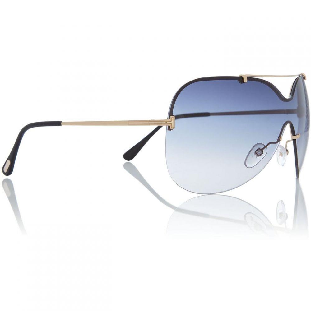 トム Ford ONDRIA メガネ・サングラス【Gold レディース Tom shield sunglasses】Gold フォード