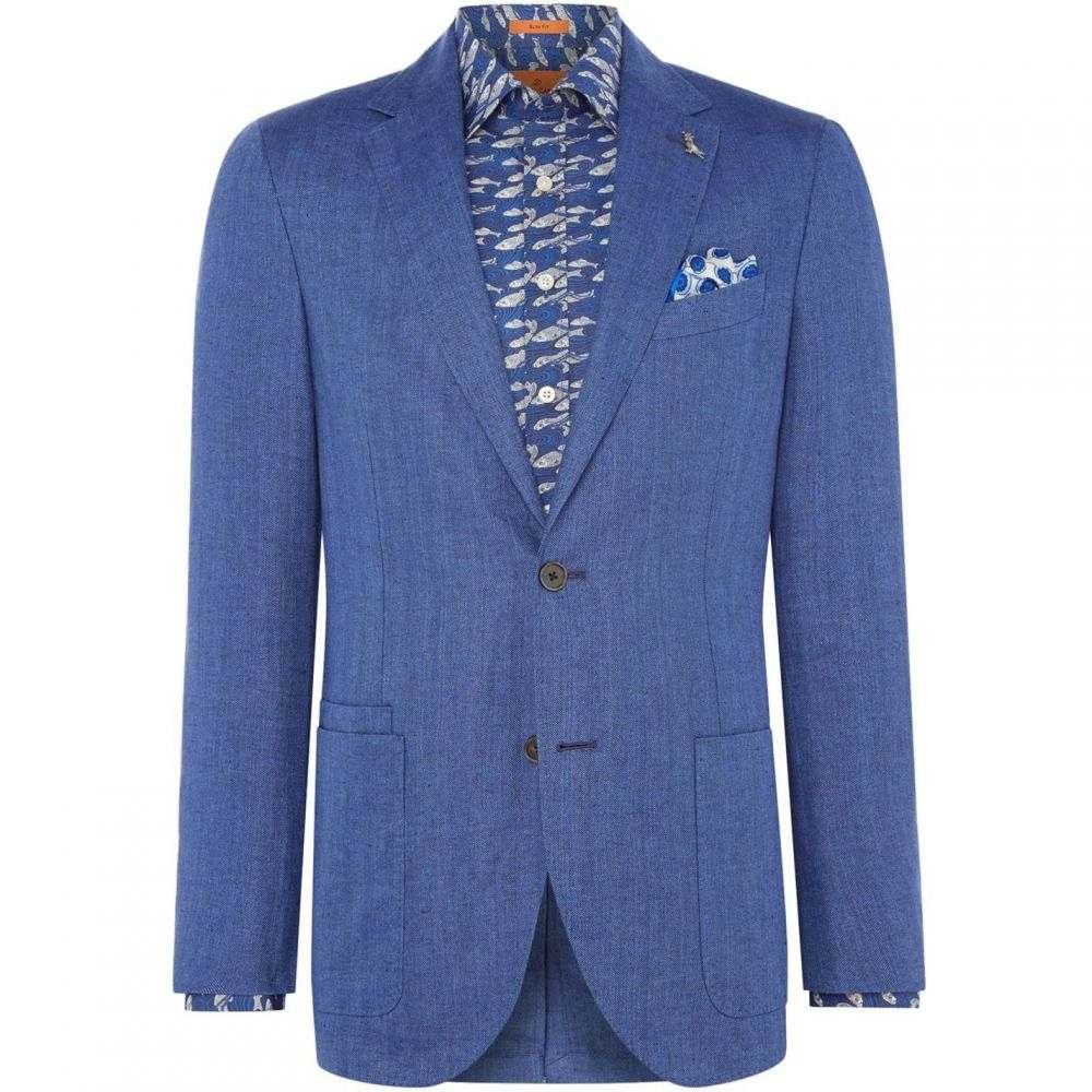 サイモン カーター Simon Carter メンズ アウター ジャケット【Herringbone Kaplan Jacket】Blue