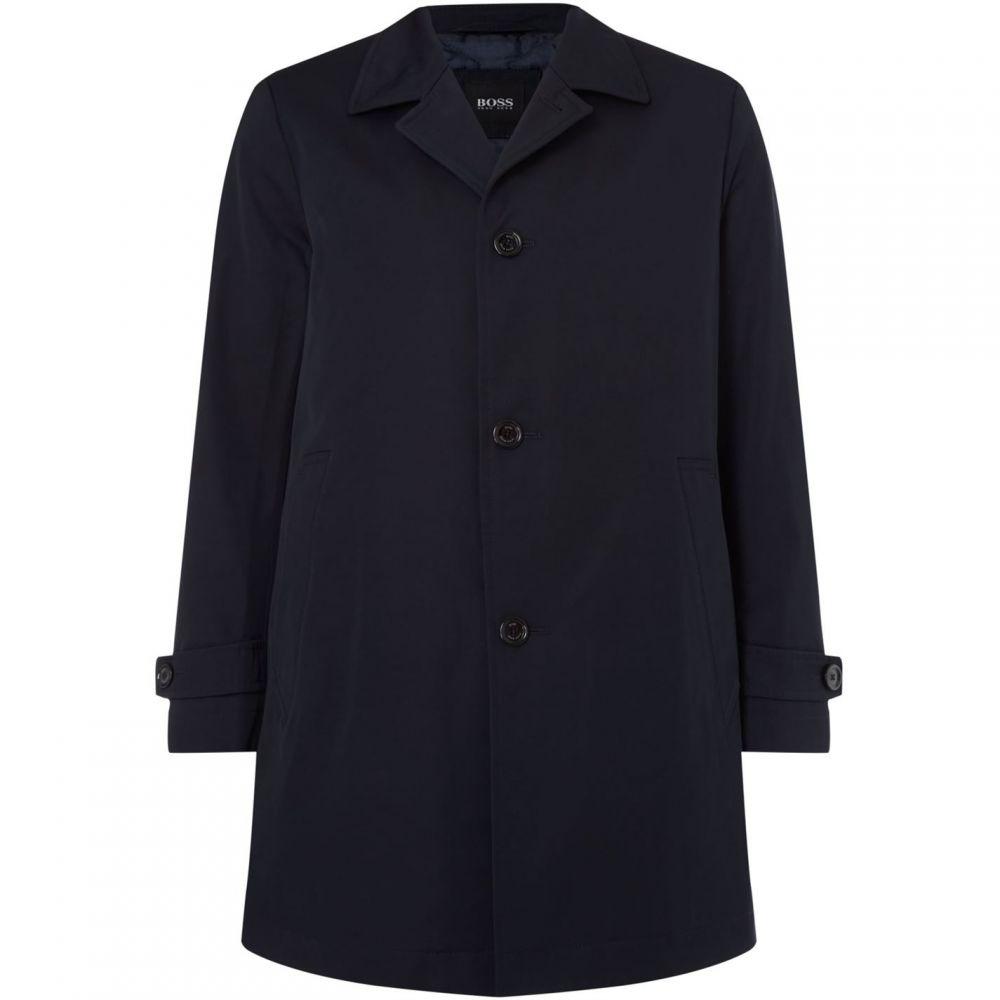 ヒューゴ ボス Boss Black メンズ アウター コート【Dais16 Cotton Twill Overcoat】Navy
