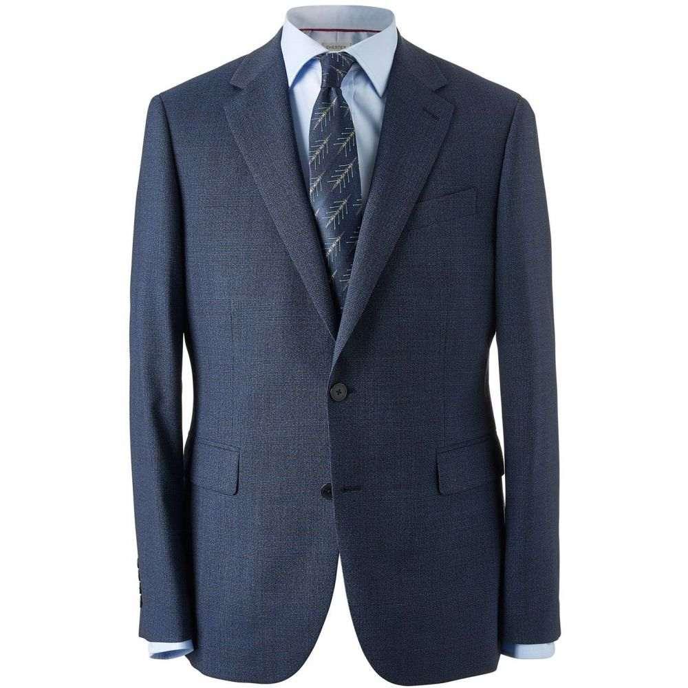 チェスター バリー Chester Barrie メンズ アウター スーツ・ジャケット【Large Scale Check Traveller Plus Suit Jacket】Navy