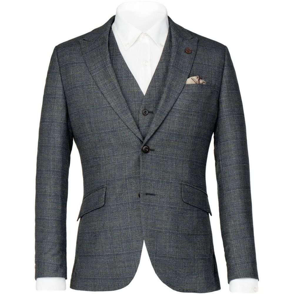ギブソン Gibson メンズ アウター スーツ・ジャケット【Blue Textured Jacket】Sea Blue