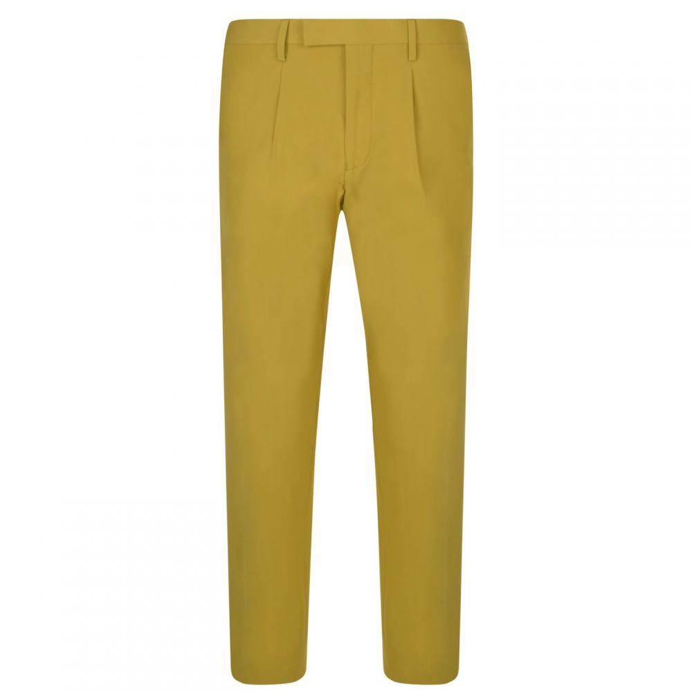 ダナ キャラン ニューヨーク DKNY メンズ ボトムス・パンツ スラックス【Zip Hem Trousers】Mustard