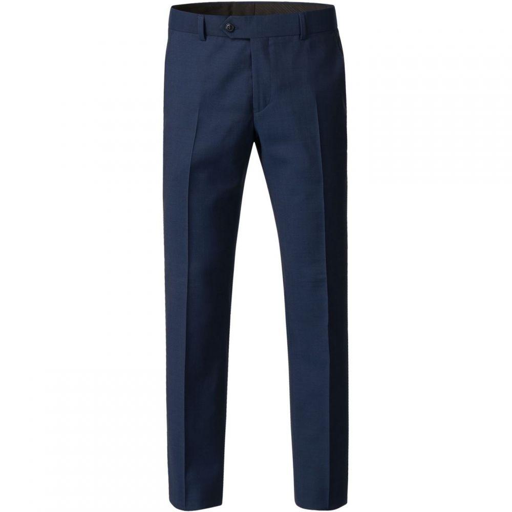ギブソン Gibson メンズ ボトムス・パンツ スラックス【Diamond Effect Trousers】Bright Blue