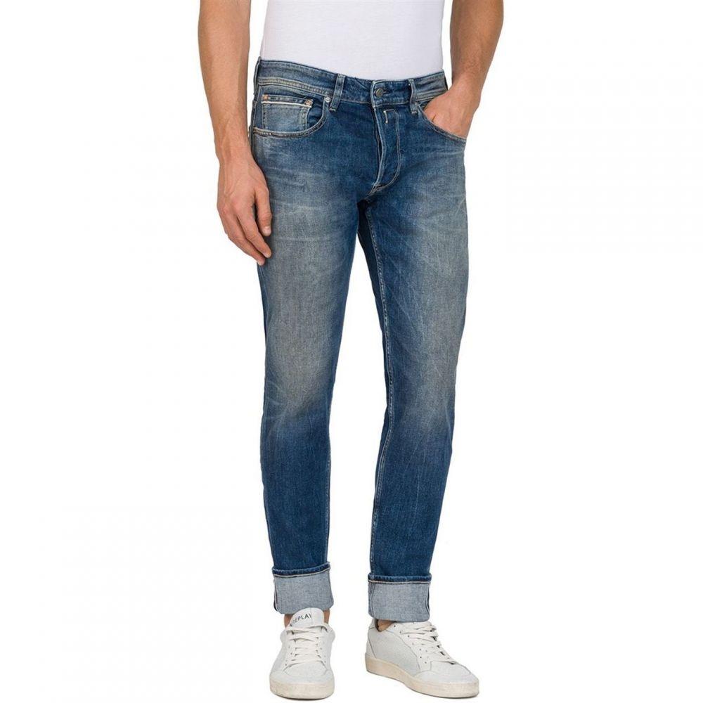 リプレイ Replay メンズ ボトムス・パンツ ジーンズ・デニム【Straight Fit Stretch Selvedge Ronas Jeans】Denim