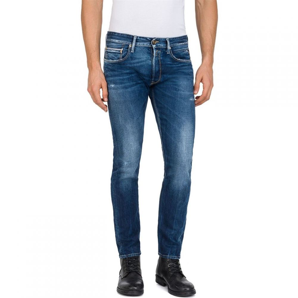 リプレイ Replay メンズ ボトムス・パンツ ジーンズ・デニム【Slim Fit Ronas Stretch Jeans】Denim
