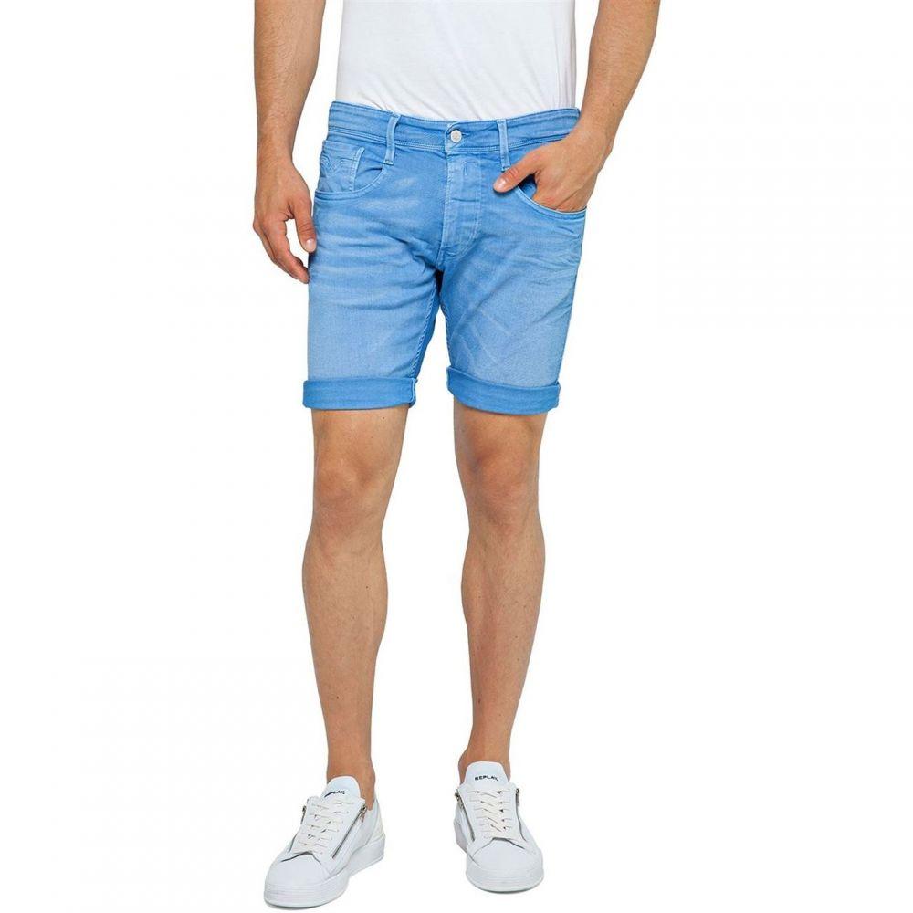 リプレイ Replay メンズ ボトムス・パンツ ショートパンツ【Bermuda Shorts Bull Denim Slim Fit】Blue