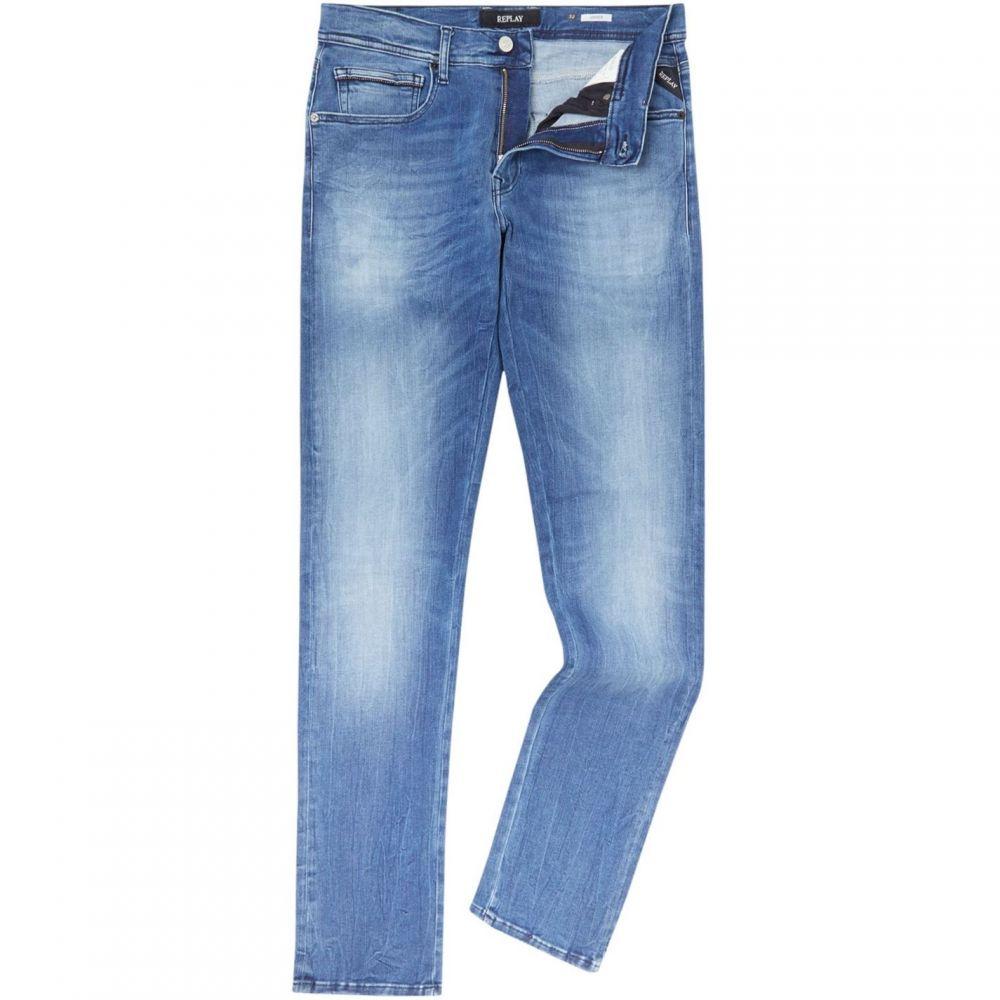 リプレイ Replay メンズ ボトムス・パンツ ジーンズ・デニム【Grover Super Stretch Straight Fit Jeans】Denim Mid Wash