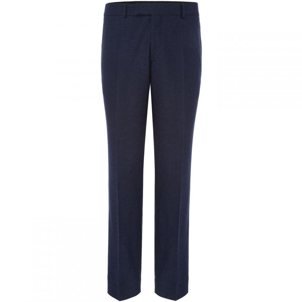 サイモン カーター Simon Carter メンズ ボトムス・パンツ スラックス【Pow Check Suit Trouser】Blue
