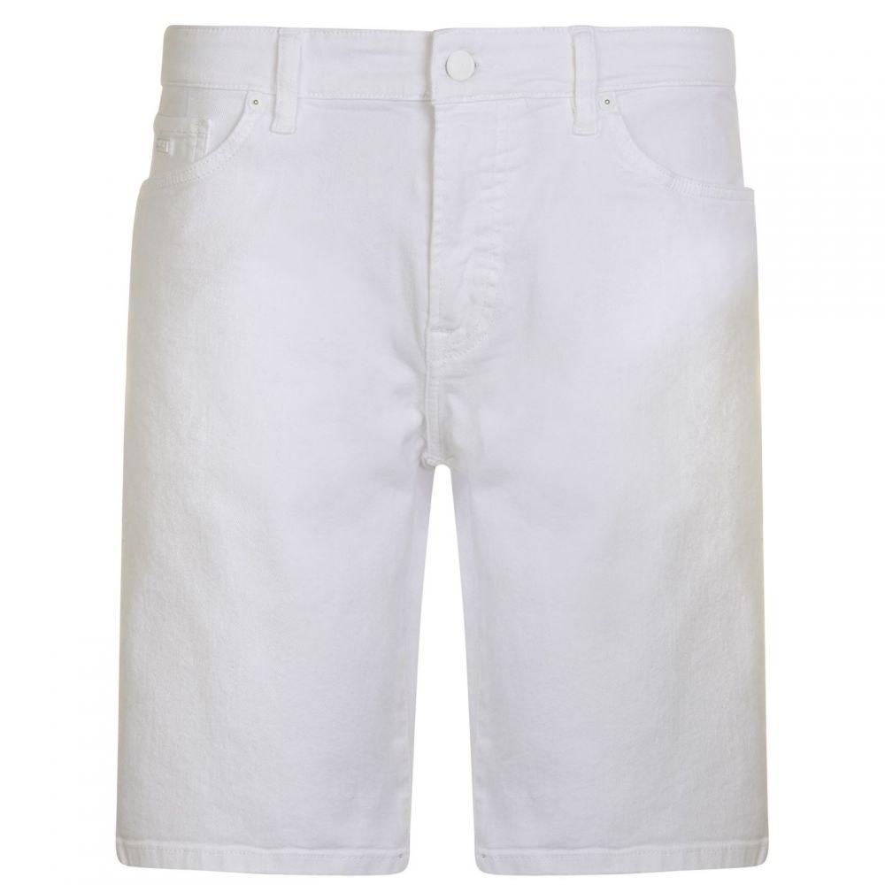 ヒューゴ ボス BOSS CASUAL メンズ ボトムス・パンツ ショートパンツ【Maine Denim Shorts】White