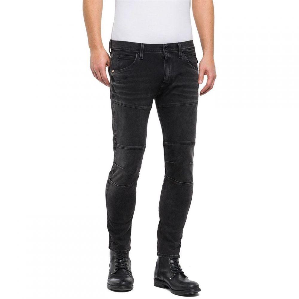 リプレイ Replay メンズ ボトムス・パンツ ジーンズ・デニム【Hyperflex Rhush Slim Fit Jeans】Black