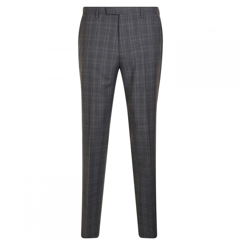 ヒューゴ ボス Hugo Business メンズ ボトムス・パンツ スラックス【Checked Wool Suit Trousers】Grey