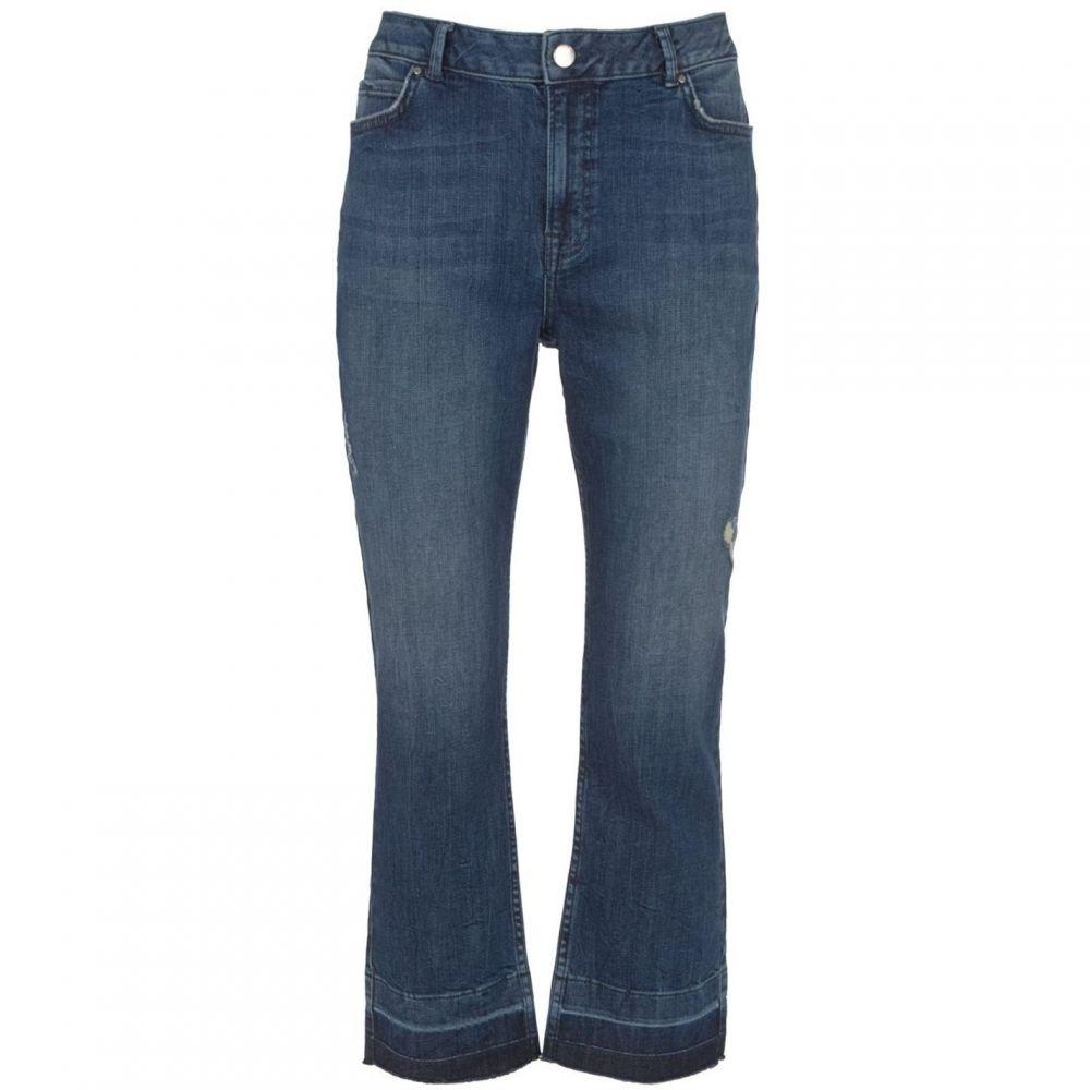 ミルトン ベルベット Mint Velvet レディース ボトムス・パンツ ジーンズ・デニム【Nevada Kick Flare Cropped Jean】Light Blue