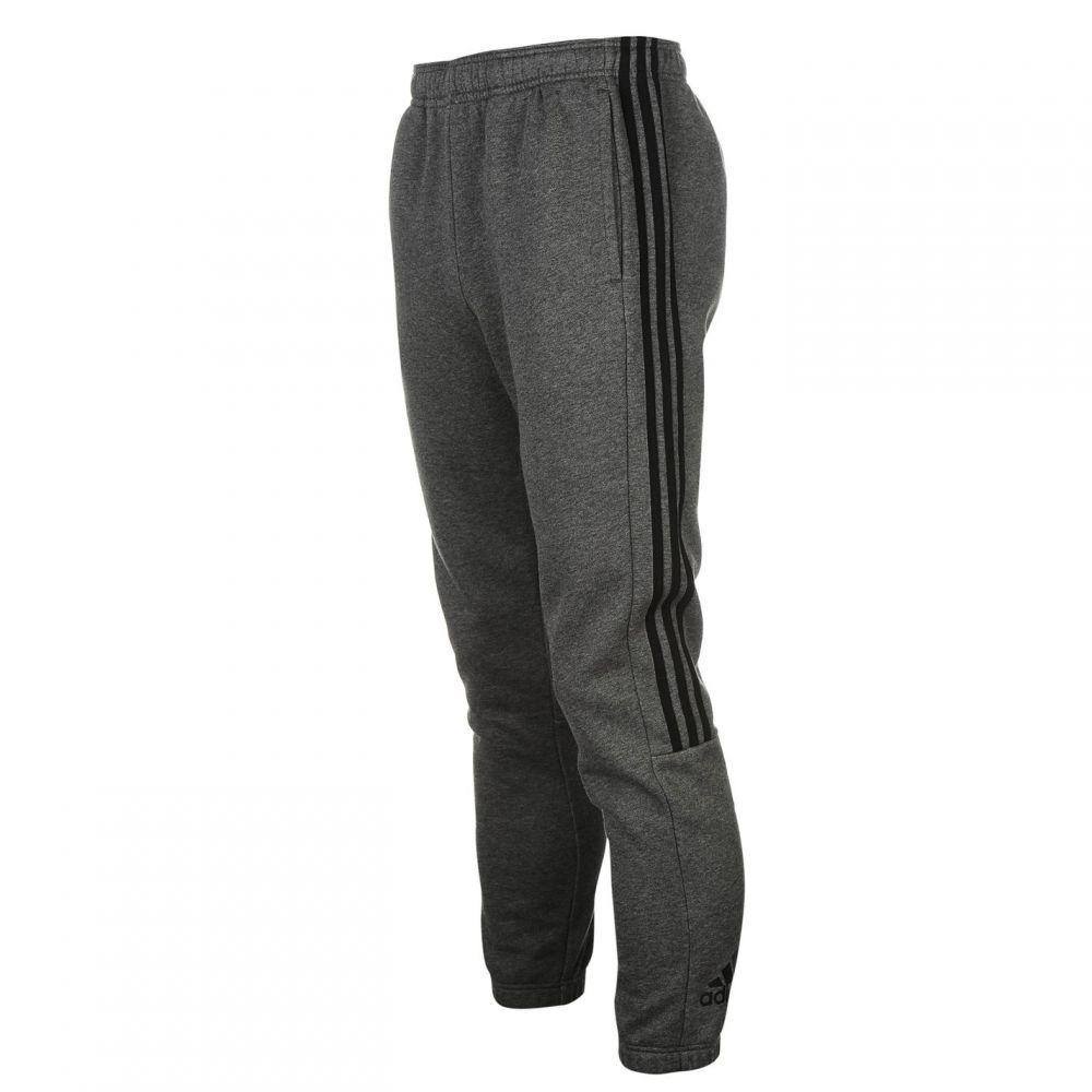 アディダス adidas メンズ ランニング・ウォーキング ボトムス・パンツ【3 Stripe Sweat Pants】DrkGrey/Black