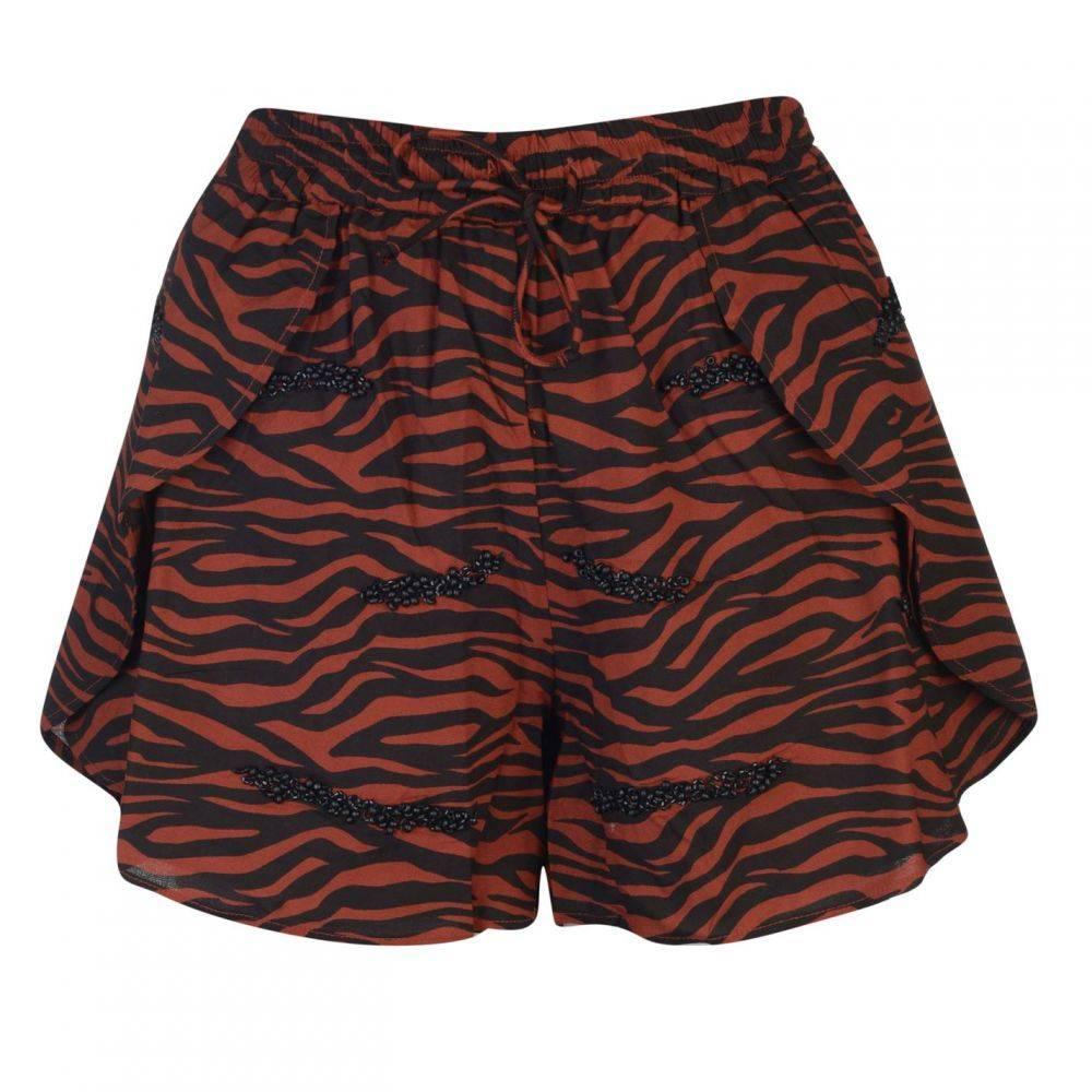 ビバ Biba レディース ボトムス・パンツ ショートパンツ【Tiger Beaded Shorts】Tobacco