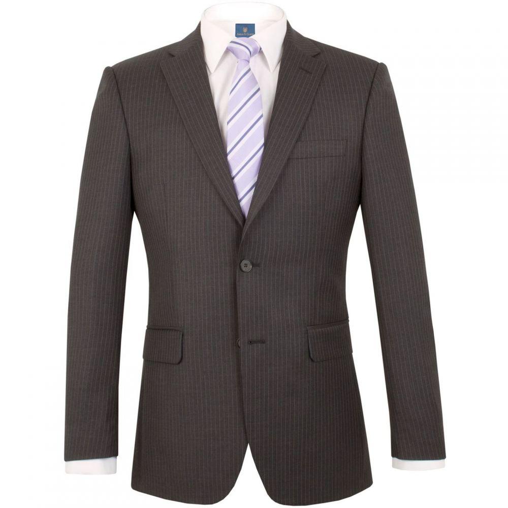 アストン&ガン Aston and Gunn メンズ アウター スーツ・ジャケット【Ripley stripe regular jacket】Grey