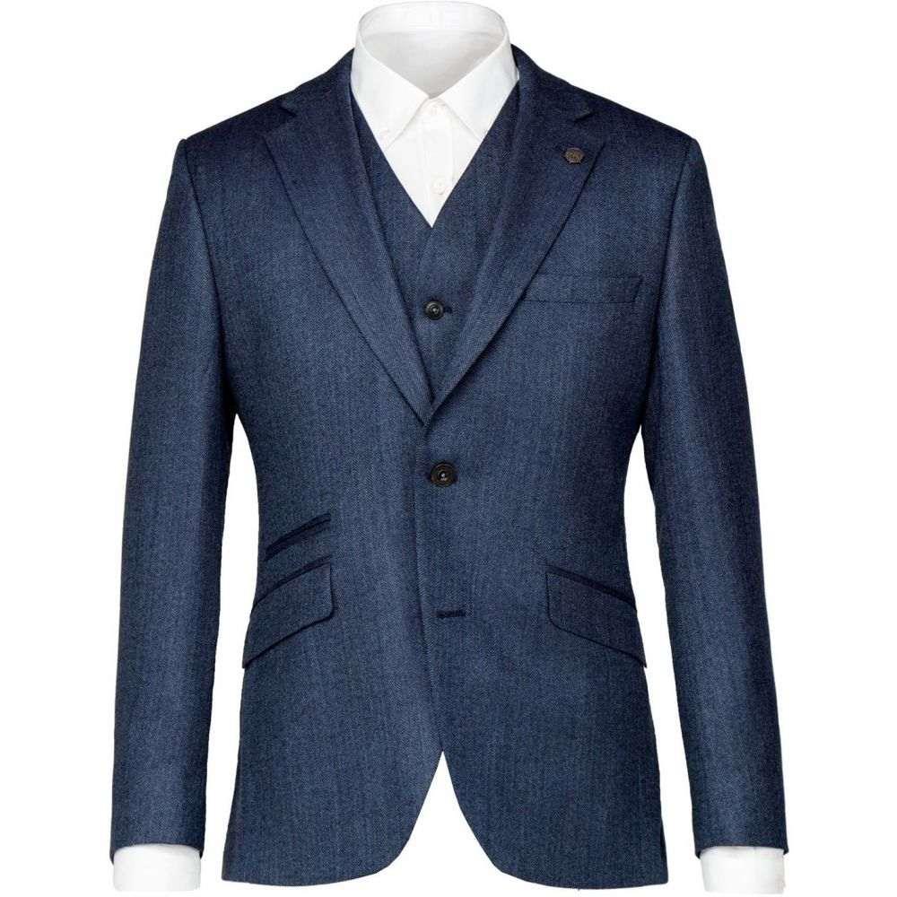 ギブソン Gibson メンズ アウター スーツ・ジャケット【Blue Herringbone Jacket】Blue