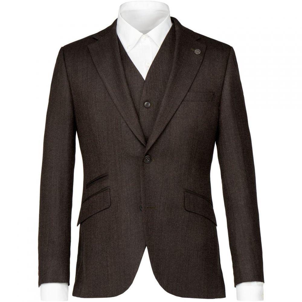 ギブソン Gibson メンズ アウター スーツ・ジャケット【Green Brown Herringbone Jacket】Green