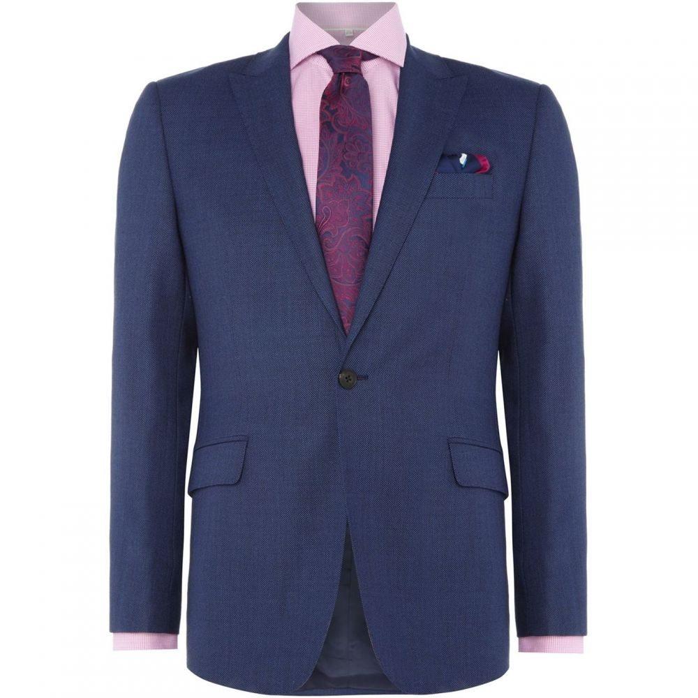 リチャード ジェームス Richard James メンズ アウター スーツ・ジャケット【Birdseye Slim Suit Jacket】Blue
