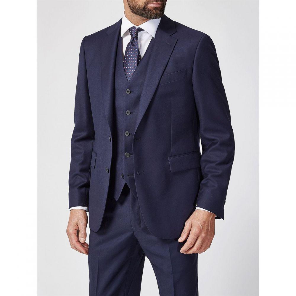 チェスター バリー Chester Barrie メンズ アウター スーツ・ジャケット【Milled Wool Soho Suit Jacket Charcoal】Navy