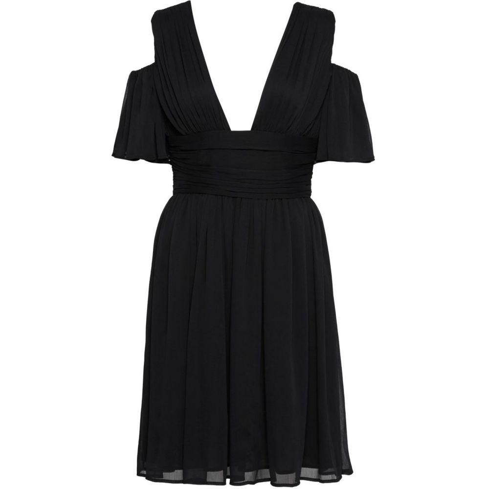 フレンチコネクション French Connection レディース ワンピース・ドレス ワンピース【Constance Draped Cold Shoulder Midi Dress】Black